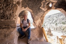Inside one of the mountainside dwellings at Mesa Verde